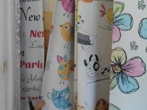 függönyvarrás székesfehérvár: virágos, madaras gyerekfüggöny