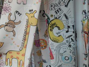 függönyvarrás székesfehérvár: zsiráfos vidám függöny