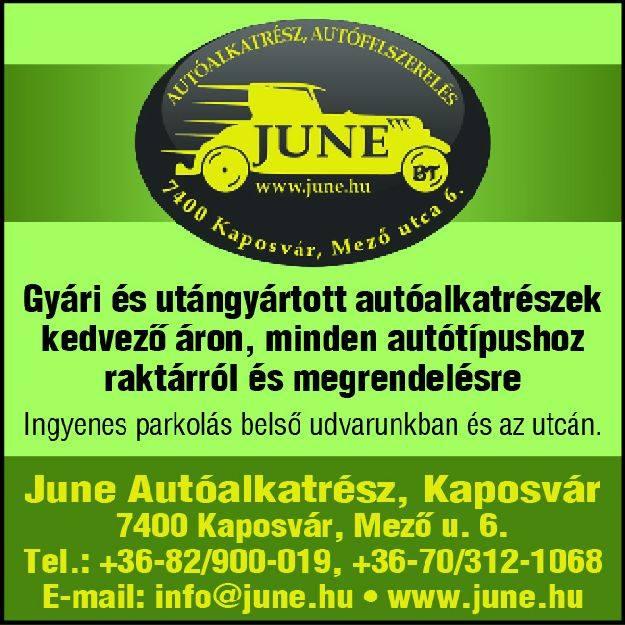 June Autóalkatrész, autófelszerelés Kaposvár - Autósbolt autóalkatrész Kaposvár