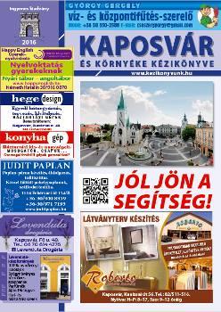 Kaposvár és környéke kézikönyvének 2016. évi kiadásának címlapja