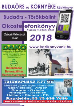 Budaőrs okostelefonkönyv címoldala