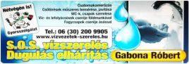 Gabona Róbert vízszerelés 12. kerület