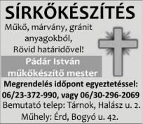 Pádár István műkőkészítő mester