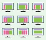 Különböző klasszikus elrendezésű weboldalak. Ilyen weboldalakat készítek.